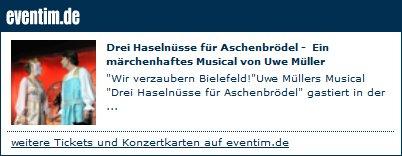 Tickets für Aschenbrödel das Musical in der Stadthalle Bielefeld